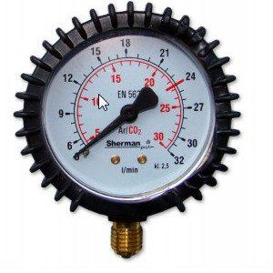 manometryczny1 300x300 - Manometryczny wskaźnik przepływu Argon/CO2 63mm M12x1,5