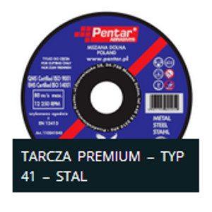 sciernica 41n 300x300 - Tarcza do cięcia 115x2,5x22 typ 41 PREMIUM (PENTAR)