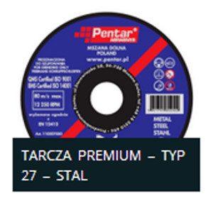 sciernica27n 300x300 - Tarcza do szlifowania 115x6,0x22 typ 27 PREMIUM (PENTAR)