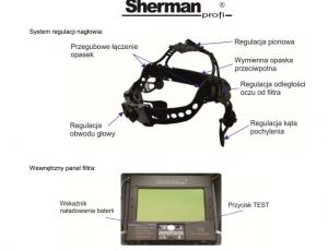 przylbica v4 300x230 - Przyłbica samościemniająca Sherman-profi V4b carbon
