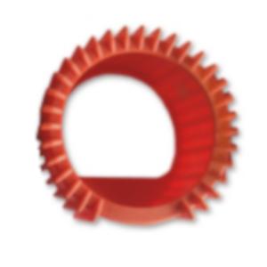 oslona manometru pom 300x300 - Osłona manometru reduktora fi 63mm propan (pomarańczowa )