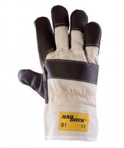 RĘKAWICE HADDOCK HADDOCK B1 BEŻOWE - Rękawice wzmacniane skórą HADDOCK B1 BEŻOWE rozmiar 10 HADDOCK