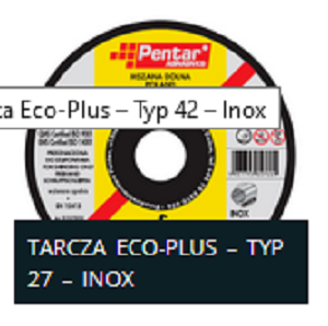TARCZA INOX EKO TYP 27 - Tarcza do szlifowania 125x6,0x22 typ 27 INOX ECO (PENTAR)