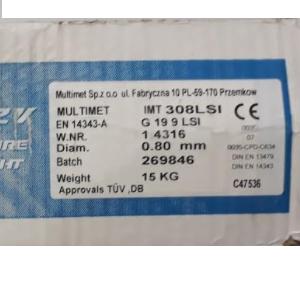drut multimet 08.15 - DRUT SPAWALNICZY NIERDZEWNY 308LSi 0,8mm 15kg INOX /MULTIMET/